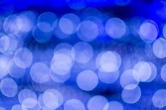 Abstracte bokehachtergrond van Kerstmislichten Stock Foto