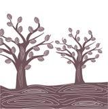 Abstracte bomen. Royalty-vrije Stock Afbeeldingen
