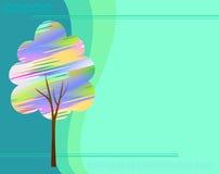 Abstracte boom die zich door vlekken vormen royalty-vrije illustratie