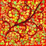 Abstracte boom groen voor uw ontwerp 1 stock illustratie