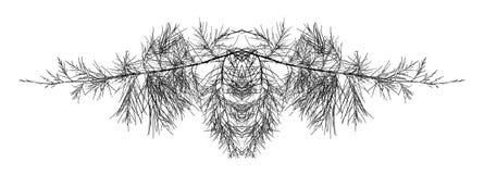 Abstracte boomtakken Stock Afbeeldingen