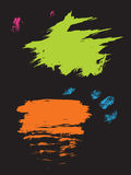 abstracte borstel royalty-vrije illustratie