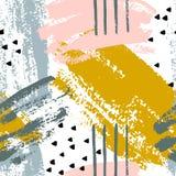 Abstracte borstel Naadloze Patronen stock illustratie