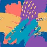 Abstracte borstel Naadloze Patronen vector illustratie