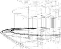 Abstracte Bouw van Vector 18 van de Lijn vector illustratie