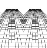 Abstracte Bouw van Vector 75 van de Wolkenkrabber Royalty-vrije Stock Foto's