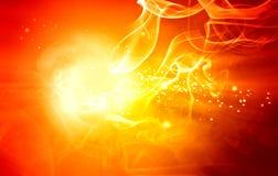 Abstracte brandachtergrond stock illustratie