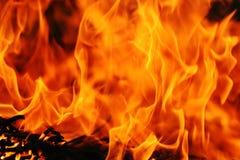 Abstracte brandachtergrond Royalty-vrije Stock Afbeeldingen