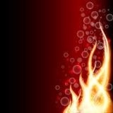 Abstracte brandachtergrond, vectorillustratie Stock Afbeeldingen