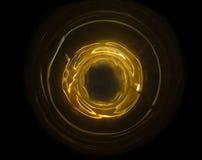 Abstracte brandbal met ring Het concept van de technologiekrachtbron Royalty-vrije Stock Fotografie
