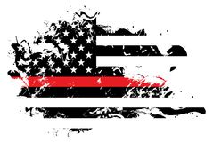 Abstracte Brandbestrijder Support Flag Illustration royalty-vrije illustratie