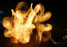 Abstracte brandbeweging Stock Foto's