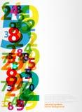 Abstracte brievenaantallen Stock Illustratie