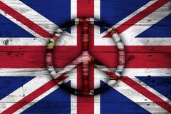 Abstracte Britse vlag Stock Foto's