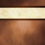 Abstracte bruine achtergrond met wit lint en donkere bruine grensversiering Stock Afbeeldingen