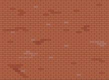 Abstracte bruine en rode bakstenen muurtextuur als achtergrond, Vectorillustratie stock illustratie