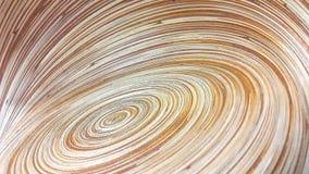 Abstracte bruine spiraalvormige lijn van kom Stock Foto's