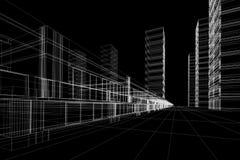 abstracte bureaubouw Stock Foto's