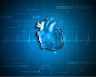 Abstracte cardiologieachtergrond Royalty-vrije Stock Afbeelding