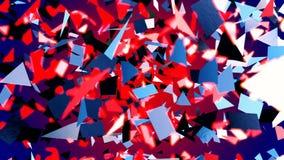 Abstracte CGI-motiegrafiek en blauwe achtergrond stock video