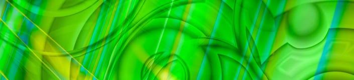 Abstracte chaotische panoramabanner in groen stock afbeeldingen