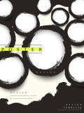 Abstracte Chinese van de bedrijfs kalligrafiestijl affiche Stock Fotografie