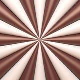 Abstracte chocolade en roomachtergrond Stock Afbeeldingen