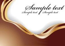 Abstracte chocoladegolf Royalty-vrije Stock Fotografie