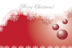 Abstracte christmasskaart Royalty-vrije Stock Foto