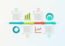 Abstracte Chronologie Infographic, Vectorontwerp Stock Afbeelding