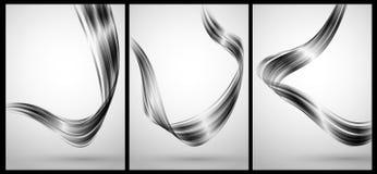 Abstracte chroomelementen voor achtergrond Stock Foto