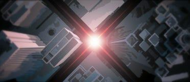 Abstracte Cinematic-Horizon vanaf bovenkant Stock Foto