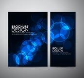 Abstracte Cirkel bokeh Brochure bedrijfsontwerpmalplaatje of broodje omhoog Stock Afbeelding
