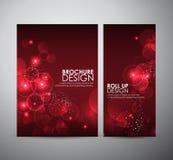 Abstracte Cirkel bokeh Brochure bedrijfsontwerpmalplaatje of broodje omhoog Royalty-vrije Stock Foto's