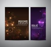 Abstracte Cirkel bokeh Brochure bedrijfsontwerpmalplaatje of broodje omhoog Stock Fotografie