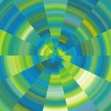 Abstracte cirkel gele en groene achtergrond Stock Foto's