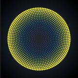 Abstracte cirkel gestippelde achtergrond Vector illustratie Stock Fotografie