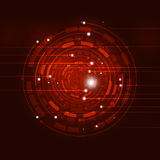 Abstracte Cirkel Rode Achtergrond Stock Fotografie