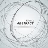 Abstracte cirkel shapesm lijn en punten royalty-vrije illustratie