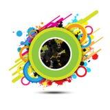 Abstracte cirkelachtergrond Stock Afbeeldingen