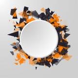 Abstracte cirkelbanner Reclamepaneel vector illustratie
