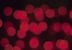 Abstracte cirkelbokehachtergrond van Kerstmislicht Royalty-vrije Stock Afbeeldingen