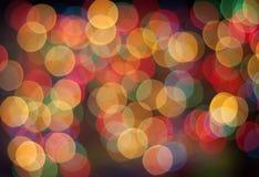 Abstracte cirkelbokehachtergrond van Kerstmislicht Royalty-vrije Stock Afbeelding