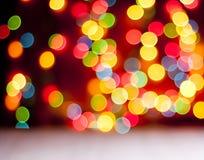Abstracte cirkelbokehachtergrond van Kerstmislicht Stock Afbeelding