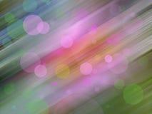 Abstracte cirkelbokehachtergrond van kleurrijk Stock Foto