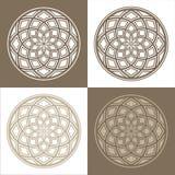 Abstracte cirkelpatronen Royalty-vrije Stock Foto's