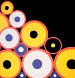 Abstracte cirkelpatronen stock afbeelding