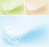 Abstracte cirkels en lijnenachtergrond Stock Foto