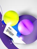 Abstracte cirkels, hi-tech futuristische achtergrond Stock Afbeelding