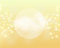 Abstracte cirkels met gele achtergrond Stock Fotografie